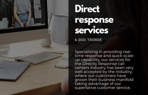 Direct response call center services