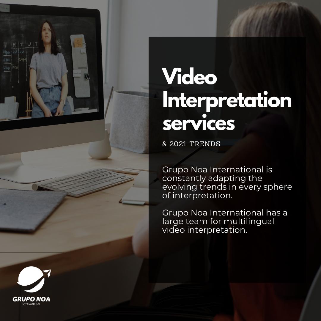 Live video interpretation in 2021